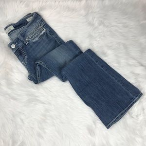 BKE Stella Stretch Flare Distressed Jeans Size 27